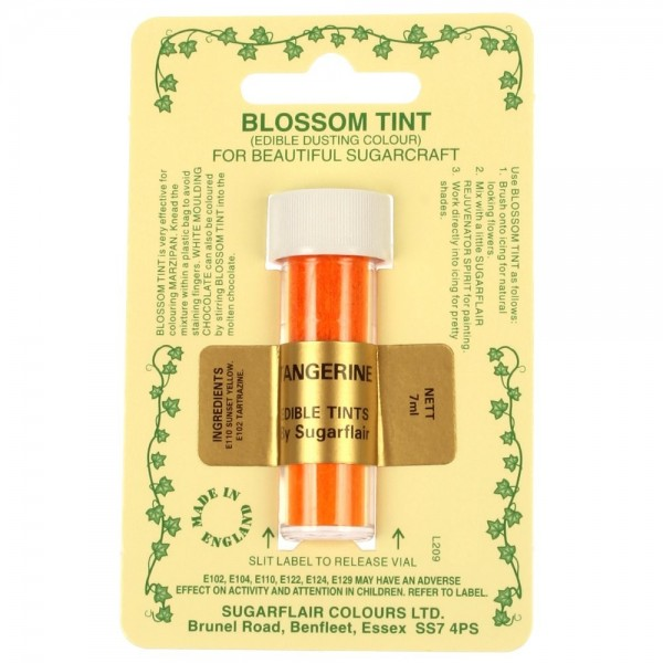 Sugarflair Blossom Tint Powdered Food Colour Dust TANGERINE  - Sugarflair in vendita su Sugarmania.it