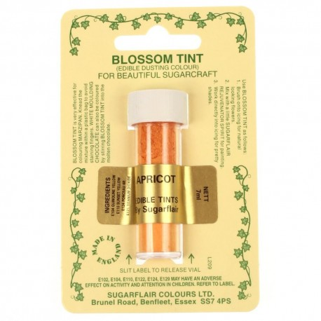 Sugarflair Blossom Tint Powdered Food Coloors Dust APRICOT - Sugarflair in vendita su Sugarmania.it