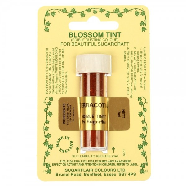 Sugarflair Blossom Tint Powdered Food Colour Dust TERRACOTTA - Sugarflair in vendita su Sugarmania.it