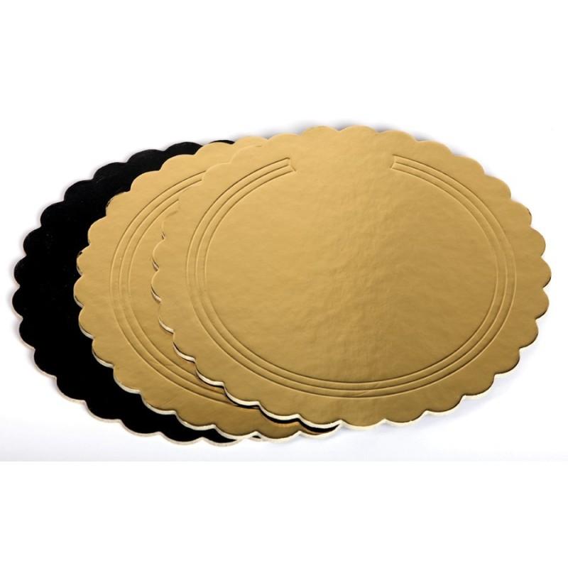 Dischi oro nero kappati rigidi 24 cm - Cartoplast Sud in vendita su Sugarmania.it