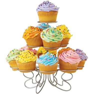Espositore per 13 cupcake o muffin in metallo - in vendita su Sugarmania.it