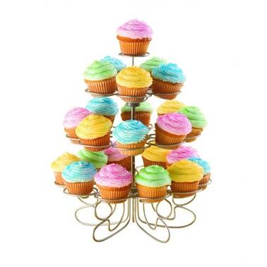 Espositore per 23 cupcake o muffin in metallo - Golden Hill in vendita su Sugarmania.it