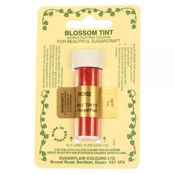 Sugarflair Blossom Tint Powdered Food Colour Dust ROSE - Sugarflair in vendita su Sugarmania.it