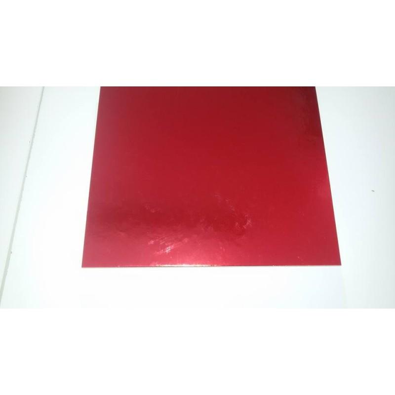 Tavoletta sottotorta quadrata rigida Rossa-Bianca 50 cm -  in vendita su Sugarmania.it