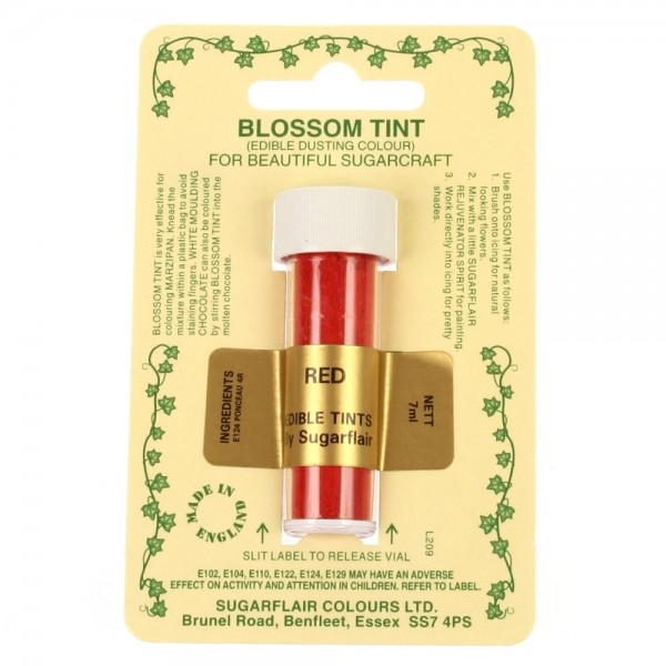 Sugarflair Blossom Tint Powdered Food Colour Dust RED - Sugarflair in vendita su Sugarmania.it