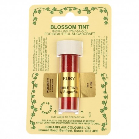 Sugarflair Blossom Tint Powdered Food Colour Dust RUBY - Sugarflair in vendita su Sugarmania.it