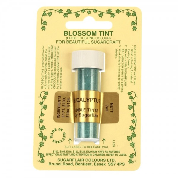 Sugarflair Blossom Tint Powdered Food Colour Dust  EUCALYPTUS - Sugarflair in vendita su Sugarmania.it