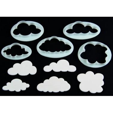 Cutter nuvole FMM 5 pezzi - FMM sugarcraft in vendita su Sugarmania.it