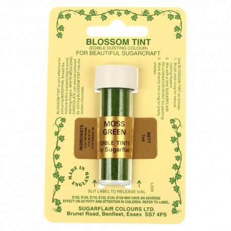 Sugarflair Blossom Tint Powdered Food Colour Dust MOSS GREEN - Sugarflair in vendita su Sugarmania.it