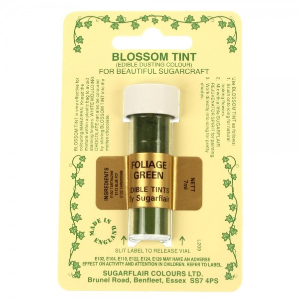 Sugarflair Blossom Tint Powdered Food Colour Dust FOLIAGE GREEN - Sugarflair in vendita su Sugarmania.it