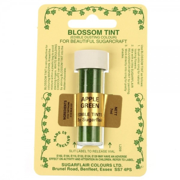 Sugarflair Blossom Tint Powdered Food Colour Dust APPLE GREEN - Sugarflair in vendita su Sugarmania.it