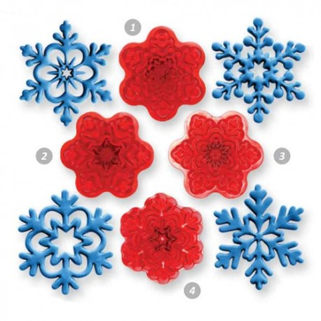 Set cutter 4 fiocchi di neve JEM -  in vendita su Sugarmania.it