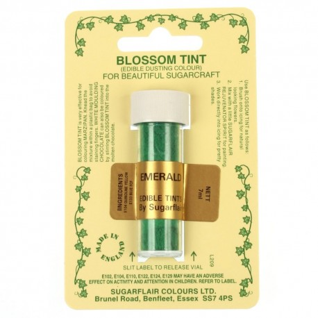 Sugarflair Blossom Tint Powdered Food Colour Dust EMERALD GREEN  - Sugarflair in vendita su Sugarmania.it