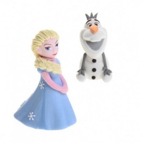 Decorazione Elsa Frozen piccola con Olaf Modecor - Modecor in vendita su Sugarmania.it