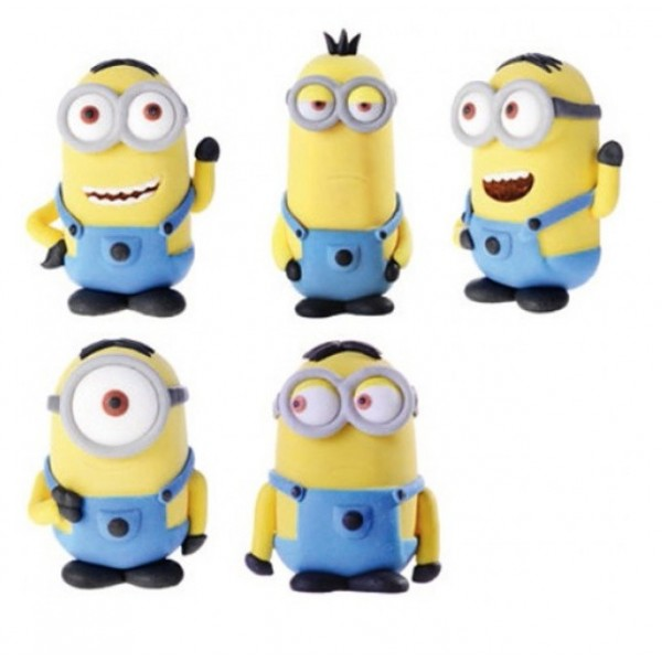 Decorazione Minions 5 pezzi Modecor - in vendita su Sugarmania.it