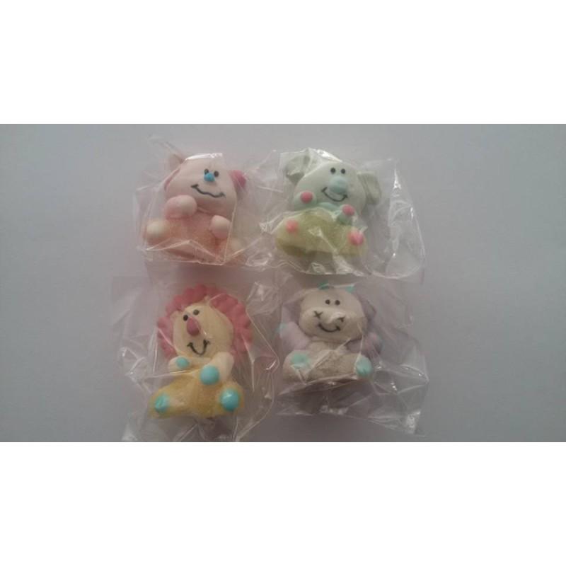 Set 4 animaletti in gelatina e zucchero - in vendita su Sugarmania.it