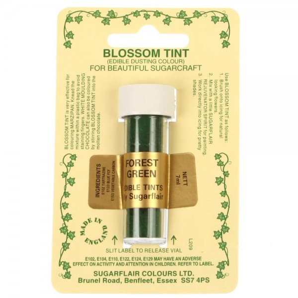 Sugarflair Blossom Tint Powdered Food Colour Dust  FOREST GREEN  - Sugarflair in vendita su Sugarmania.it