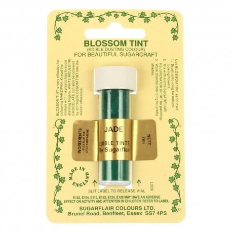Sugarflair Blossom Tint Powdered Food Colour Dust  JADE GREEN  - Sugarflair in vendita su Sugarmania.it