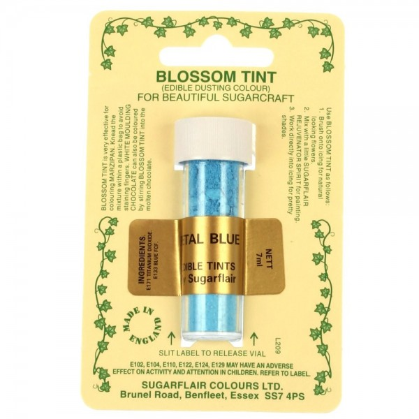 Sugarflair Blossom Tint Powdered Food Colour Dust PETAL BLUE - Sugarflair in vendita su Sugarmania.it