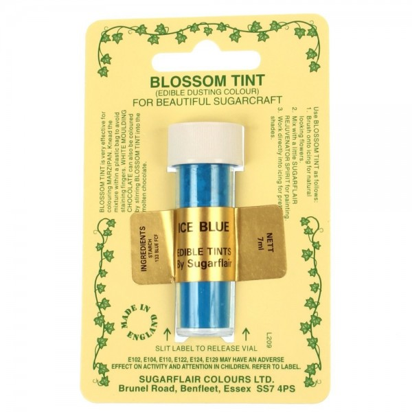 Sugarflair Blossom Tint Powdered Food Colour Dust ICE BLUE - Sugarflair in vendita su Sugarmania.it