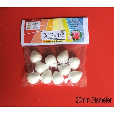 Boccioli per fiori CelBuds 2 - 2 cm -10 pezzi - in vendita su Sugarmania.it