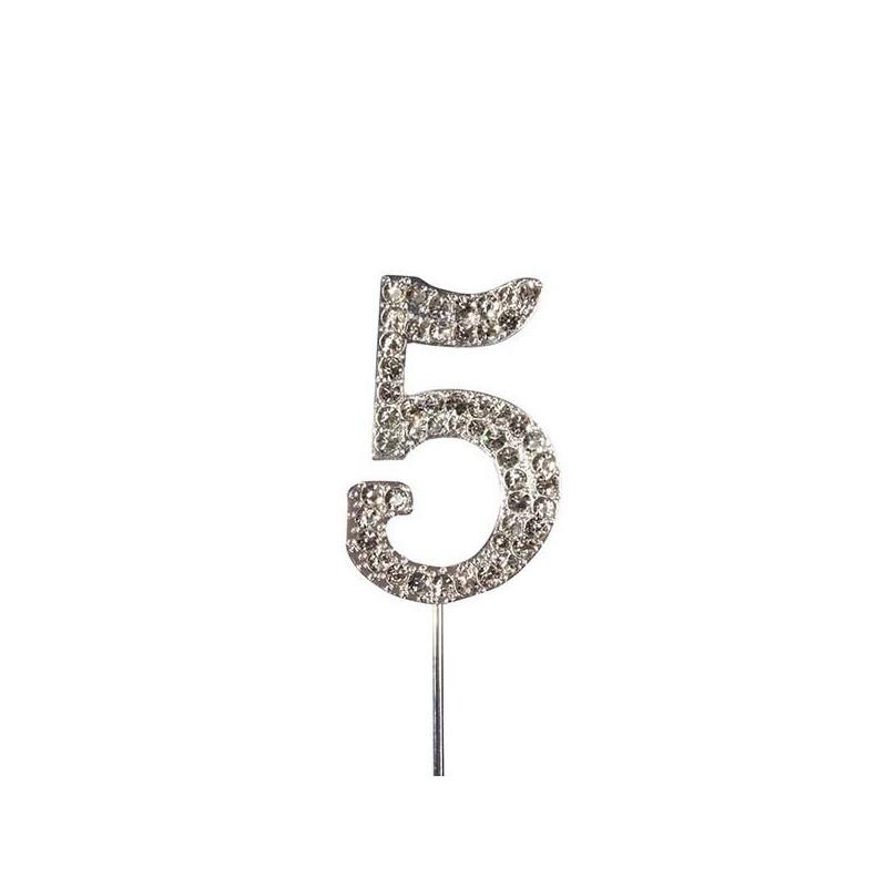 Numero brillante per torte brillante 5 - in vendita su Sugarmania.it