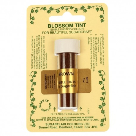 Sugarflair Blossom Tint Powdered Food Colour Dust BROWN - Sugarflair in vendita su Sugarmania.it