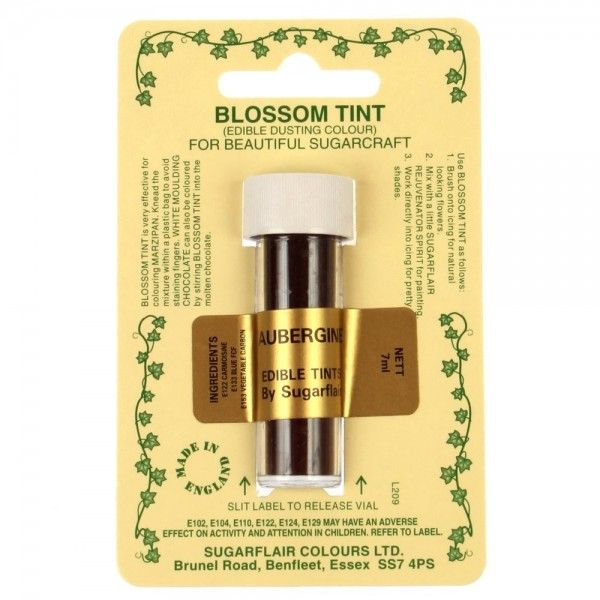 Sugarflair Blossom Tint Powdered Food Colour Dust AUBERGINE - Sugarflair in vendita su Sugarmania.it