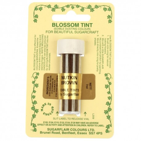 Sugarflair Blossom Tint Powdered Food Colour Dust Nutkin BROWN - Sugarflair in vendita su Sugarmania.it