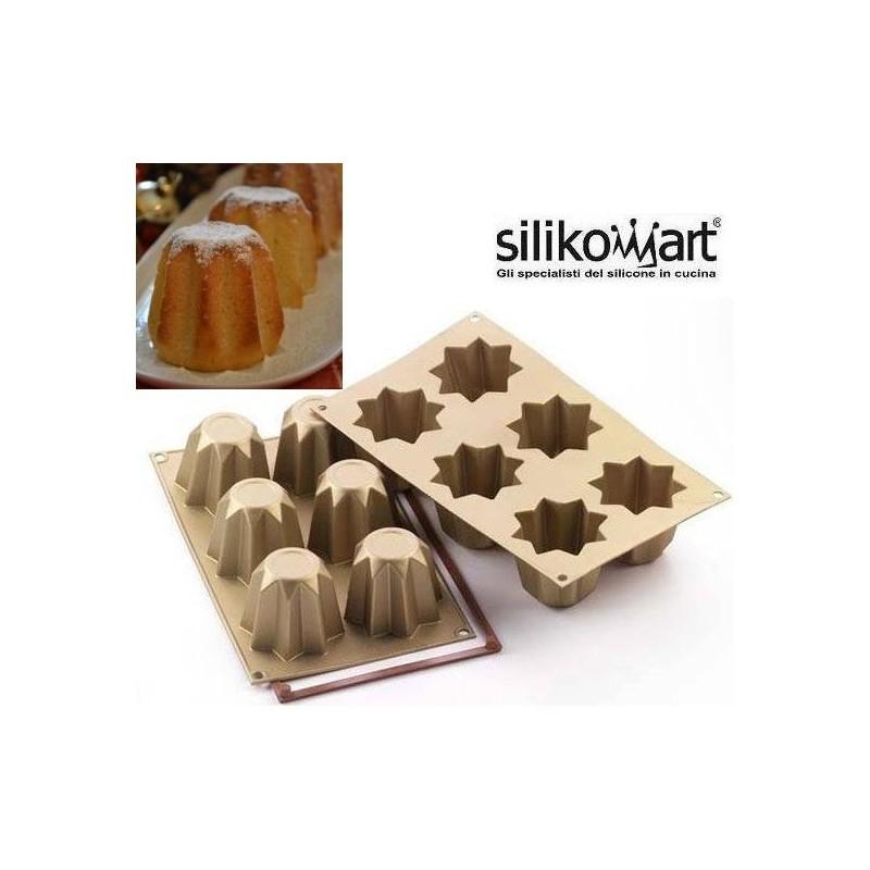 Stampo silicone 6 mini pandori Silikomart - Silikomart in vendita su Sugarmania.it