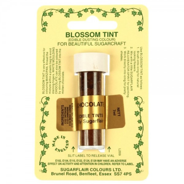 Sugarflair Blossom Tint Powdered Food Colour Dust CHOCOLATE BROWN - Sugarflair in vendita su Sugarmania.it