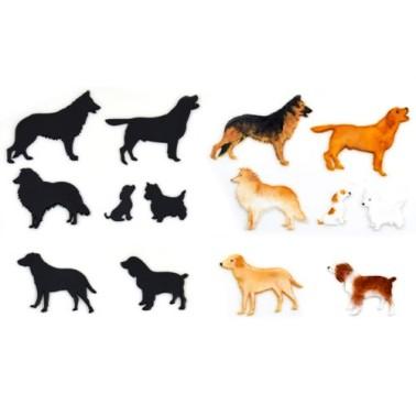 Silhouette cani 7 pezzi -  in vendita su Sugarmania.it