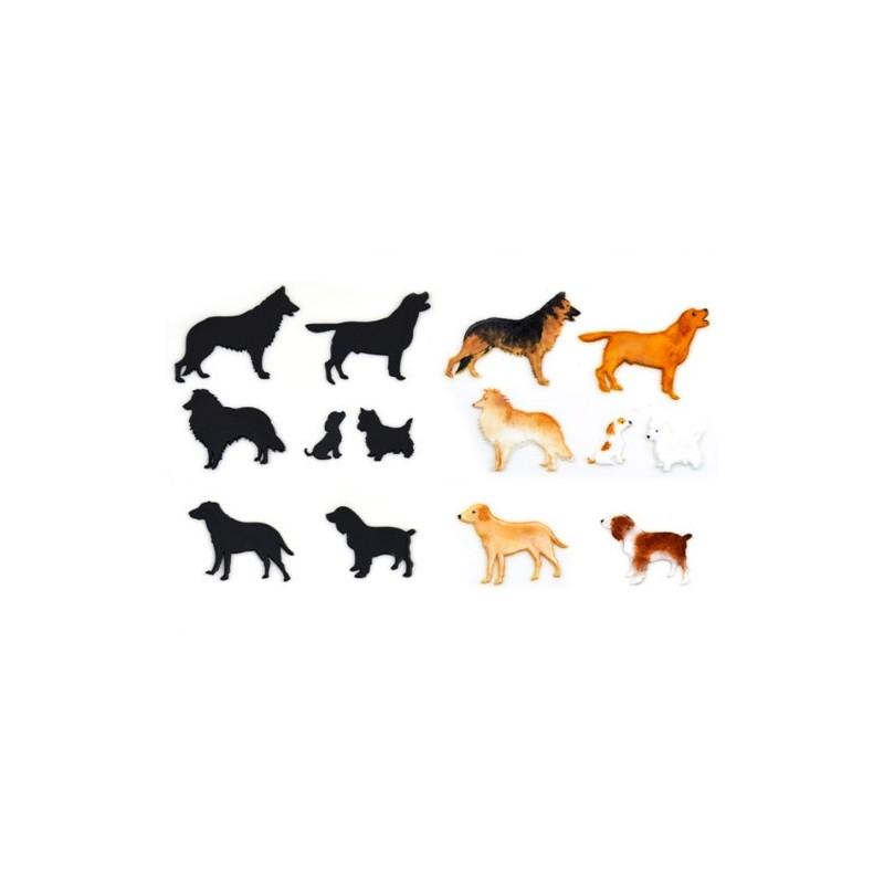 Silhouette cani 7 pezzi - Patchwork Cutters in vendita su Sugarmania.it
