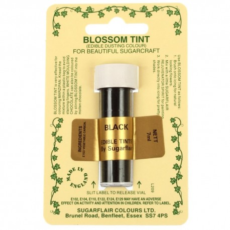 Sugarflair Blossom Tint Powdered Food Colour Dust BLACK - Sugarflair in vendita su Sugarmania.it