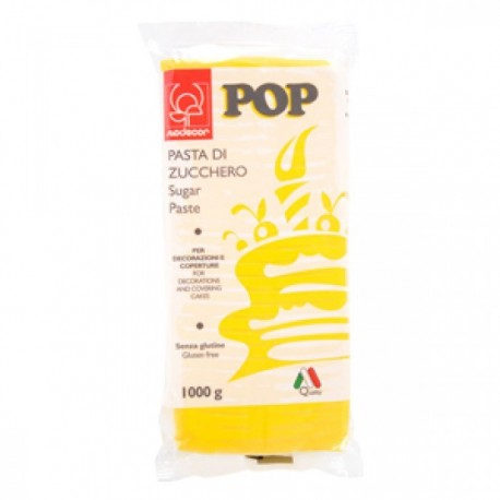 Pasta di zucchero MODECOR POP gialla 1 kg - Modecor in vendita su Sugarmania.it