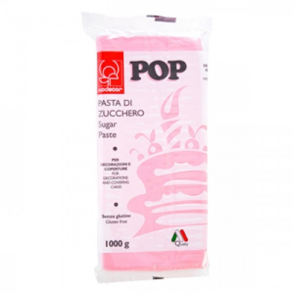 Pasta di zucchero MODECOR POP rosa 1 kg - Modecor in vendita su Sugarmania.it