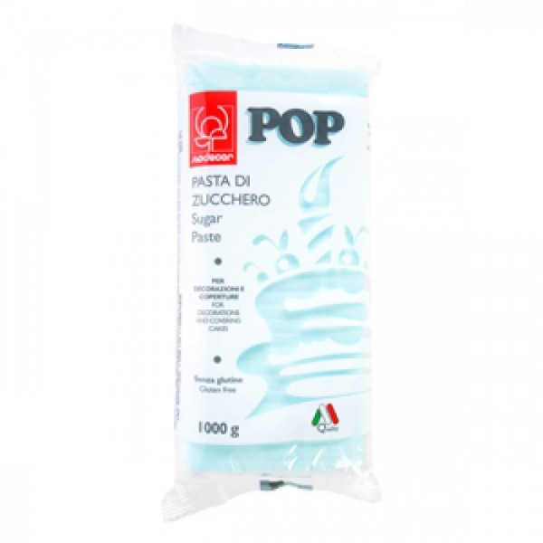Pasta di zucchero MODECOR POP celeste 1 kg - Modecor in vendita su Sugarmania.it
