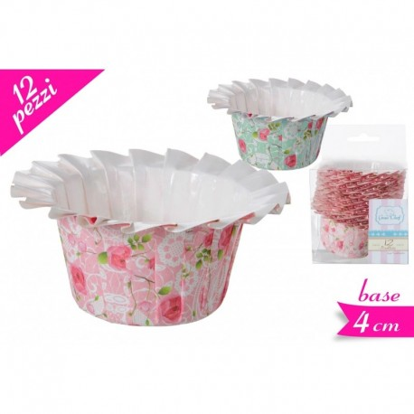 Set 12 pirottini fiore rosa shabby chic - Golden Hill in vendita su Sugarmania.it