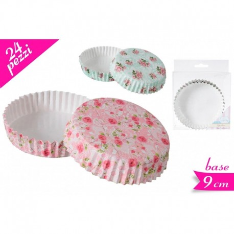 Pirottini 24 pezzi per crostatine shabby chic rosa - Golden Hill in vendita su Sugarmania.it