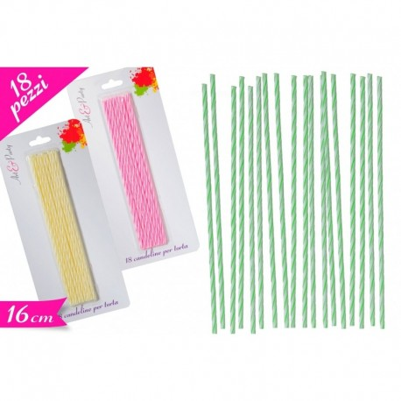 Candeline set 18 pezzi rosa -  in vendita su Sugarmania.it