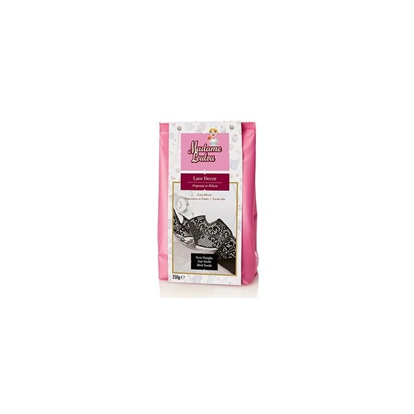 Lace Decor Madam Loulou NERO vaniglia 100 g - Madam Loulou in vendita su Sugarmania.it