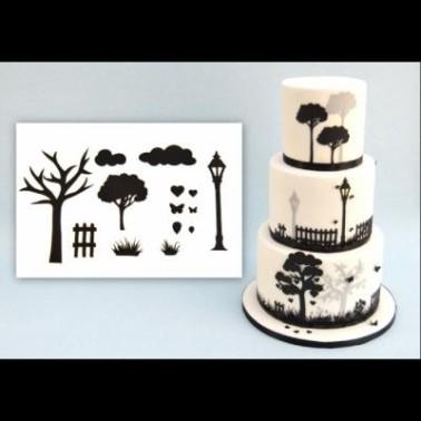 Patchwork Cutters Silhouette alberi11 pezzi - Patchwork Cutters in vendita su Sugarmania.it