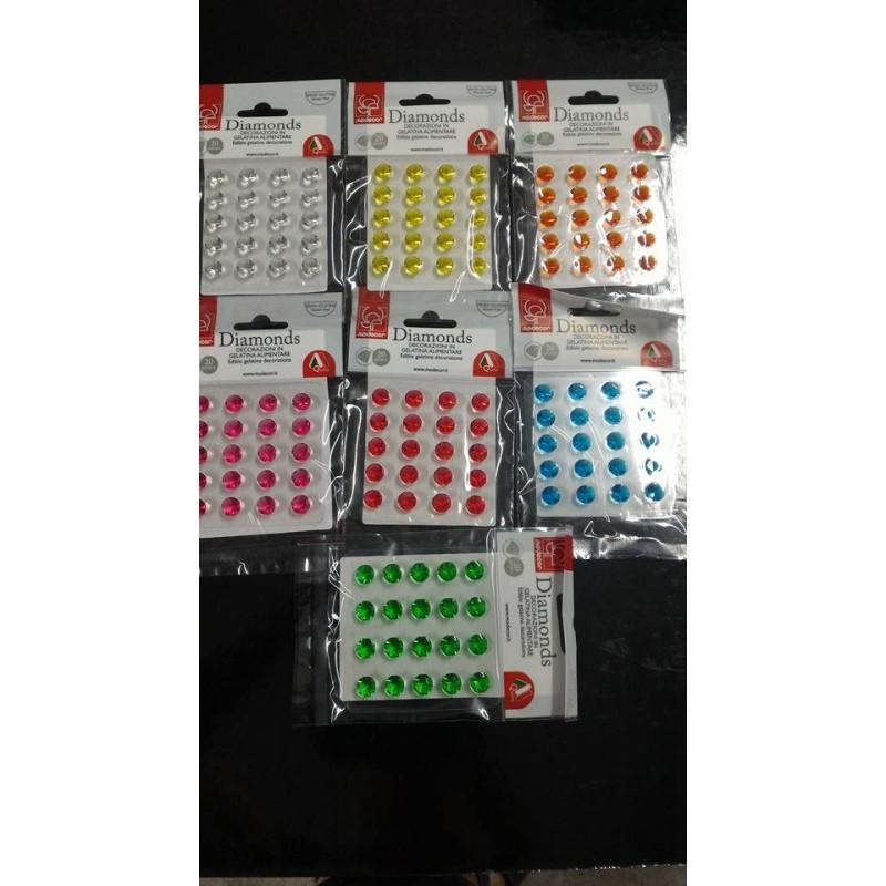 Diamanti commestibili in gelatina Modecor  - Modecor in vendita su Sugarmania.it
