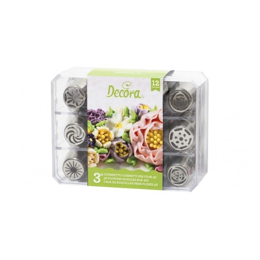 Cofanetto 12 cornetti per fiori 3d Decora Verde - in vendita su Sugarmania.it