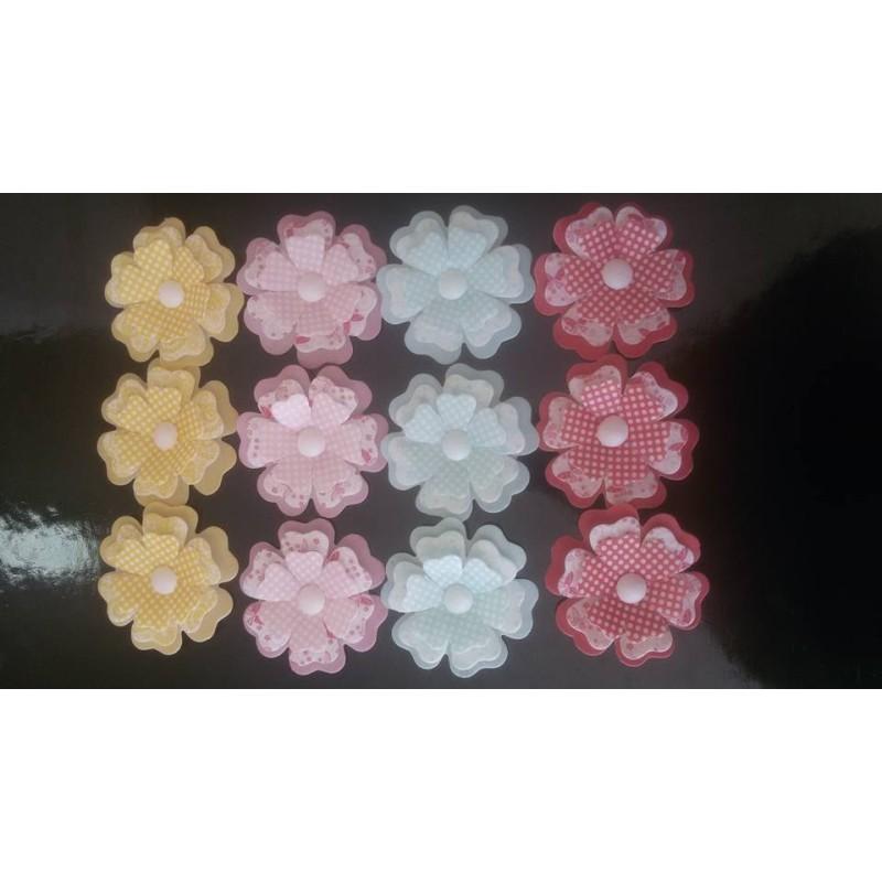 Fiore tridimensionale in cialda GIALLO 1 pezzo -  in vendita su Sugarmania.it