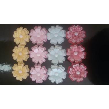 Fiore tridimensionale in cialda CELESTE 1 pezzo -  in vendita su Sugarmania.it