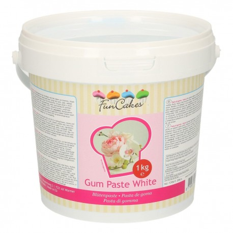 Gum paste FunCakes bianca 1 kg - Funcakes in vendita su Sugarmania.it