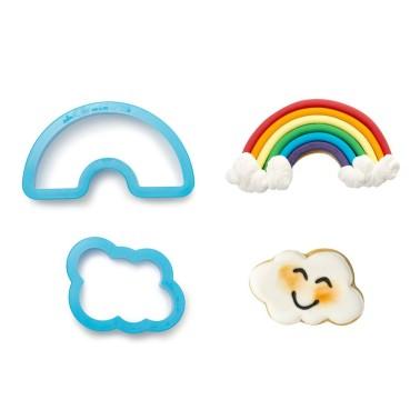 Kit 2 tagliapasta arcobaleno e nuvola Decora - Decora in vendita su Sugarmania.it