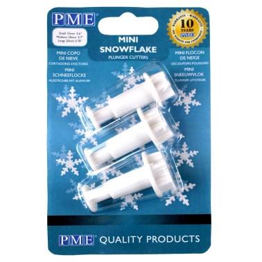 PME Tagliapasta fiocco di neve piccolo 3 pezzi - PME in vendita su Sugarmania.it
