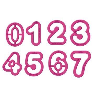 Set 9 tagliapasta numeri Decora  - Decora in vendita su Sugarmania.it